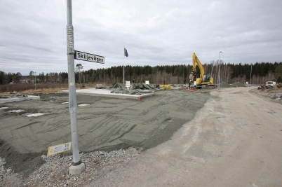 16 mars 2017 - På Prästnäset fortsatte arbetet med parhusen.