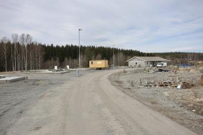 8 april 2017 - Första parhuset monterat på Prästnäset.