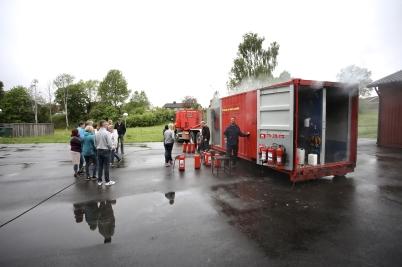 30 maj 2017 - Räddningstjänsten hade brandskyddsutbildning för personal inom handeln.