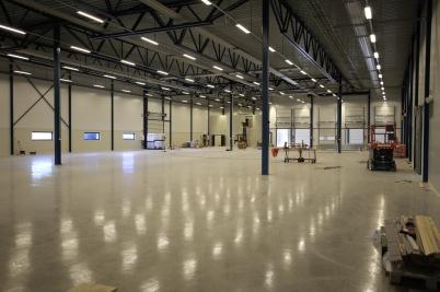 1 juni 2017 - Nya industrihallen vid Flexit skulle snart invigas.