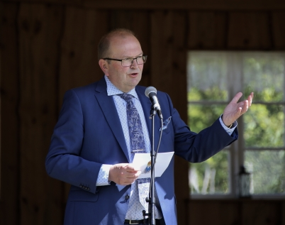 6 juni 2017 - Landshövdingen Kenneth Johansson höll högtidstalet vid National-dagsfirandet i Östervallskog.