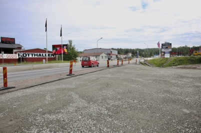 15 juni 2017 - Arbetet med nya in- och utfarten till Älverud gick snabbt framåt.
