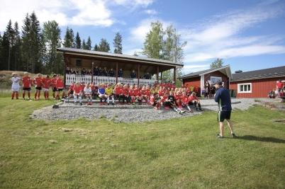 26 juni 2017 - Töcksfors IF arrangerade fotbollskola på Hagavallen, med ca 90 deltagande ungdomar.