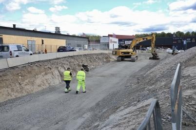 3 juli 2017 - På Älverudsområdet byggde man väg.