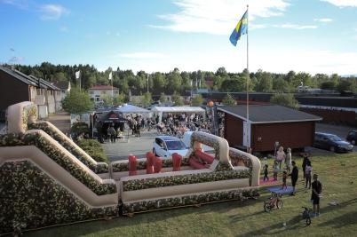 7 juli 2017 - Och på torget i Töcksfors var Töcksmarksveckan igång.
