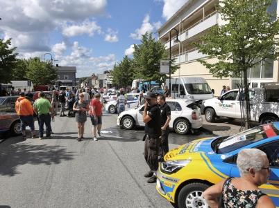 14 juli 2017 - I Årjängs centrum var det  utställning av rallybilar.