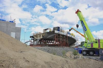 22 juli 2017 - Och i Örje fortsatte bygget av Norgesporten.