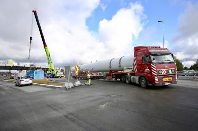 10 augusti 2017 - Och  så anlände Norgesportens torn till Örje.