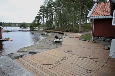 21 augusti 2017 - Vid Tangen i Örje byggde man en strandpromenad.