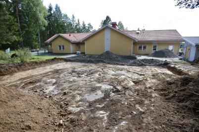 1 september 2017 - Arbetet med utbyggnaden av förskolan Junibacken fortskred.