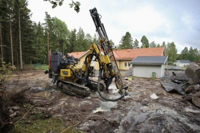 12 september 2017 - Det krävdes berg-sprängning även vid utbyggnaden av förskolan Junibacken.