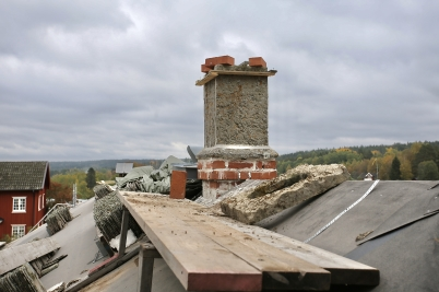 25 september 2017 - I Långelanda fortsatte renoveringen av tingshuset.