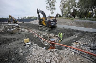 26 september 2017 - Och vid Älverud fortsatte vägarbetet.