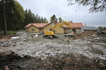 26 september 2017 - Arbetet med utbyggnaden av Junibacken fortsatte.