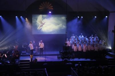 29 september 2017 - I Holmedals kyrka spelades musikalen Resan går vidare.