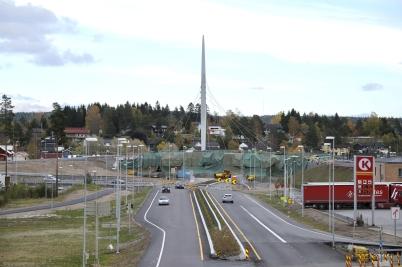 10 oktober 2017 - I Örje pågick intensivt arbete för färdigställande av Norges-porten.