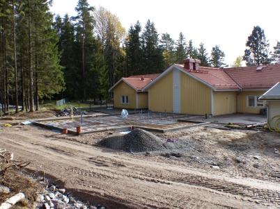 14 oktober 2017 - Vid förskolan Junibacken gjorde man klart för gjutning av bottenplattor.