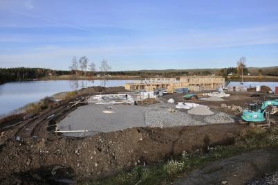 19 oktober 2017 - I Örje byggde man nytt sjönära bostadsomåde.