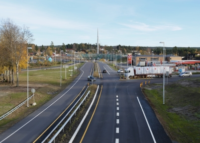 19 oktober 2017 - Och i Örje väntade alla på att Norgesporten skulle bli klar, så att nya E18 kunde tas i bruk.