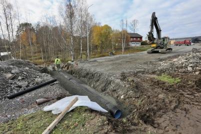 23 oktober 2017 - Vid Älverud fortsatte man bygga vägar.