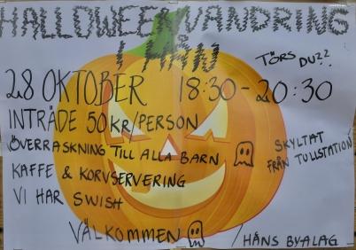 28 oktober 2017 - Och så ordnade Håns byalag skräckupplevelser i samband med Halloween.