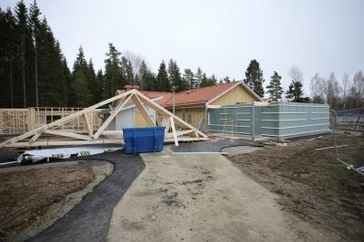 1 november 2017 - Utbyggnaden vid Junibacken började ta form.