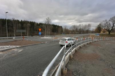 3 november 2017 - Och vid Älverud var den nya vägen snart klar.