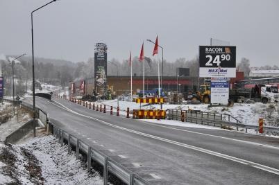14 november 2017 - Gamla in- och utfarten vid Älverud stängdes.