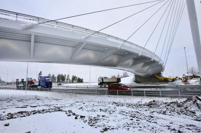 29 november 2017 - I Örje var bron Norgesporten klar för invigning.