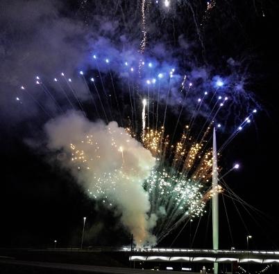 9 december 2017 - Öppningsceremonin i Örje avslutades med ett magnifikt fyrverkeri.