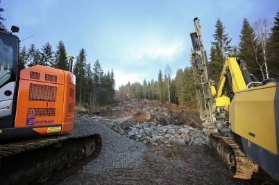 27 december 2017 - Arbetet med byggnation av vindkraftsparker i Marker kommun hade startat.