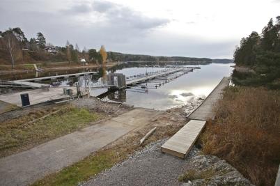 31 oktober 2016 - Låg vattennivå i Foxen.