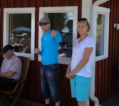 Tine och Fredrik, nya ägare till Töcksfors camping och Fritid, informerade om sin verksamhet.