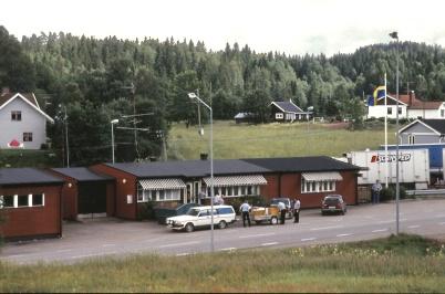 1991 - Gamla tullstationen i Hån, som revs för att ersättas av en tullstation i två våningsplan.