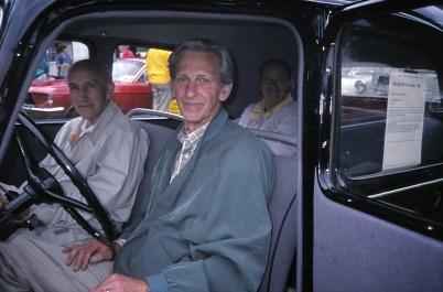 1998 - Henry Moberg, Brita Moberg och vid ratten Karl-Erik Bryntesson.