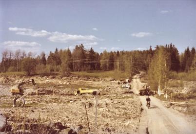 Villaområdet vid Ringväggen byggs.