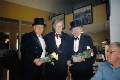 Veterandag i Karlanda - Runar Patriksson, Ivan Nilsson och Åke Jansson.