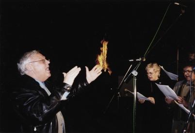 2002 - Valborgskören, Runar Patriksson, Berit Eriksson och Emmy Larsson.