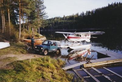 2002 - Hasse Olssons flygplan efter vinterförvaring och sevice.