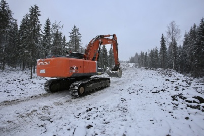 12 januari 2018 - Och vid Joarknatten på gränsen byggde man vägar för den nya vindkraftparken.