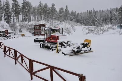 12 februari 2018 - Thore preparerade spår vid Kölen sportcenter.
