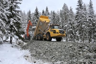 20 februari 2018 - Och i Joarknattens vindkraftspark byggde man vägar.