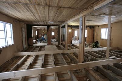 21 februari 2018 - I gamla Second hand huset började man bygga lägenheter.