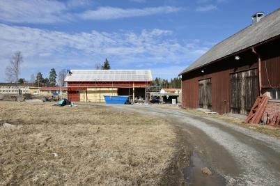 19 april 2018 - Renoveringen av husen vid Kulturladan Verket hade kommit igång.