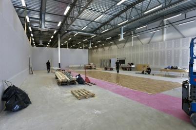 25 april 2018 - I Handelsparken byggde man ny butik för Lager 157.