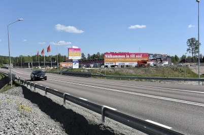 15 maj 2018 - Töcksfors shoppingcenter höll verksamheten igång trots störningar från bygget.