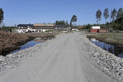 25 maj 2018 - Vid Kölen sportcenter byggdes ny anläggningsväg till Högås vindkraftspark.