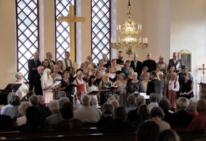 23 juni 2018 - I Västra Fågelviks kyrka var det traditionsenlig Midsommardags- konsert.
