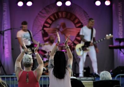 5 juli 2018 - Arvingarna framförde en bejublad konsert.