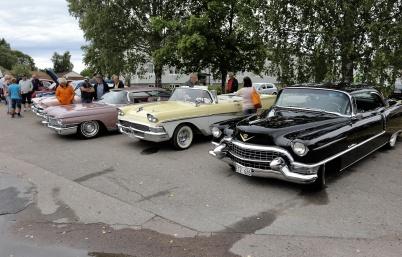 7 juli 2018 - Töcksmarksveckan 40-år - välvårdade veteranbilar stod uppradade.